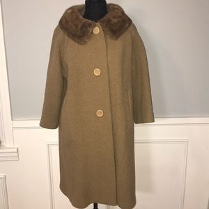 1940's/1950's Coat With Fur Collar